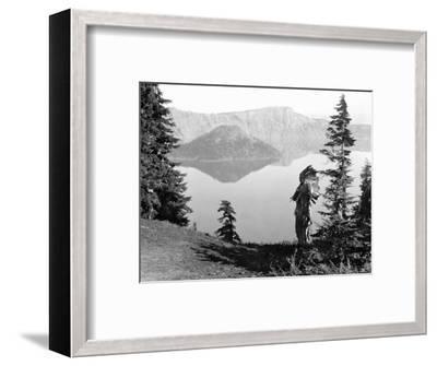 Klamath Chief, C1923-Edward S^ Curtis-Framed Photographic Print