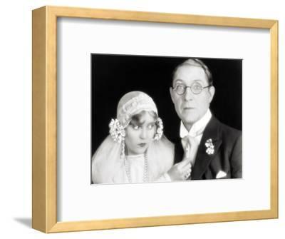 Silent Film Still: Wedding--Framed Photographic Print