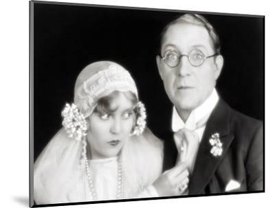 Silent Film Still: Wedding--Mounted Photographic Print