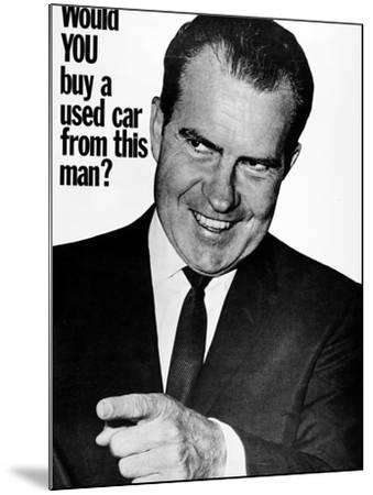 Anti-Nixon Poster, 1960--Mounted Photographic Print