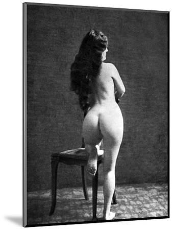 Nude Posing: Rear View--Mounted Photographic Print