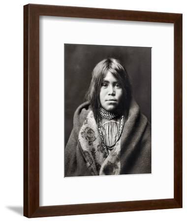 Apache Girl, C1903-Edward S^ Curtis-Framed Photographic Print