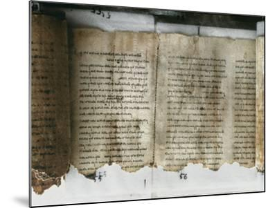 Dead Sea Scroll--Mounted Photographic Print