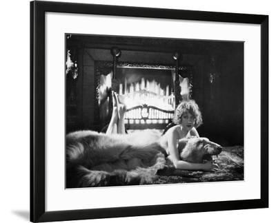 Silent Film Still: Woman--Framed Photographic Print