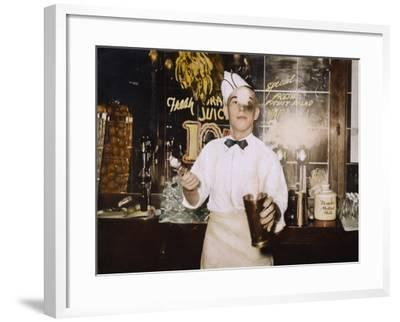 Soda Jerk, 1939-Russell Lee-Framed Photographic Print