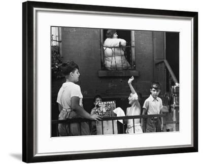 Streetside Games, 1938-Walker Evans-Framed Photographic Print