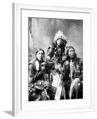 Young Sioux Men, 1899--Framed Photographic Print