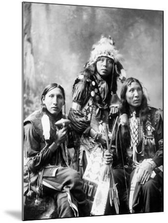 Young Sioux Men, 1899--Mounted Photographic Print