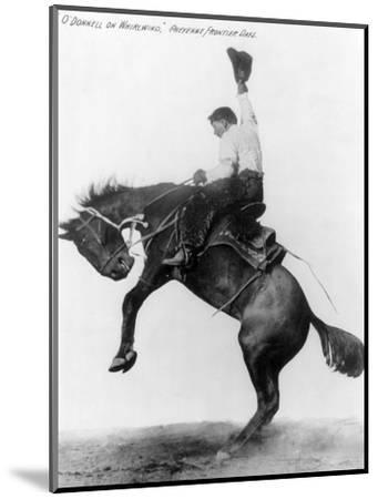 Wyoming: Cowboy, C1911--Mounted Photographic Print