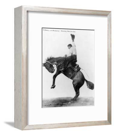 Wyoming: Cowboy, C1911--Framed Photographic Print