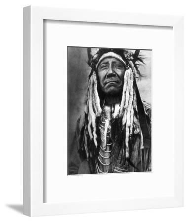 Cheyenne Chief, C1910-Edward S^ Curtis-Framed Photographic Print