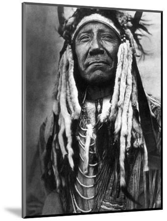 Cheyenne Chief, C1910-Edward S^ Curtis-Mounted Photographic Print