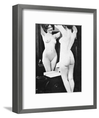 Nude And Mirror, 1902-Fritz W. Guerin-Framed Photographic Print