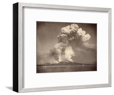 Pompeii: Mount Vesuvius--Framed Photographic Print