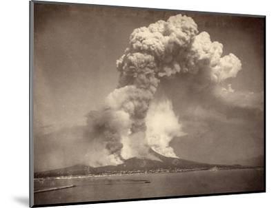 Pompeii: Mount Vesuvius--Mounted Photographic Print