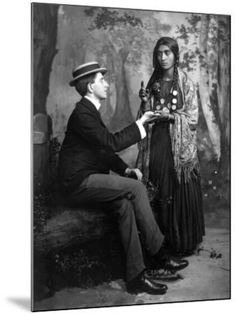 Palm-Reading, C1910--Mounted Photographic Print