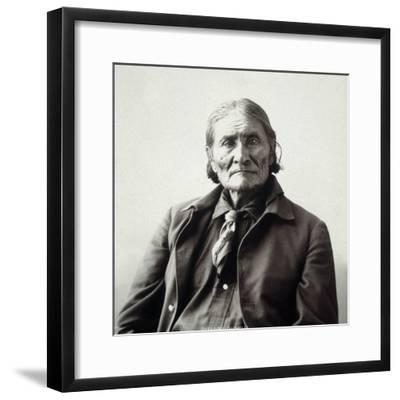 Geronimo (1829-1909)-Adolph F^ Muhr-Framed Photographic Print