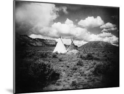 Apache Tepees, C1909--Mounted Photographic Print