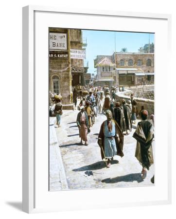 Jerusalem Street Scene--Framed Photographic Print