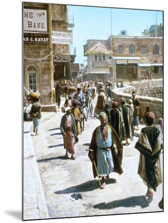 Jerusalem Street Scene--Mounted Photographic Print
