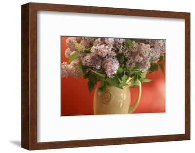Lilac Flowers in Vase-Anna Miller-Framed Photographic Print