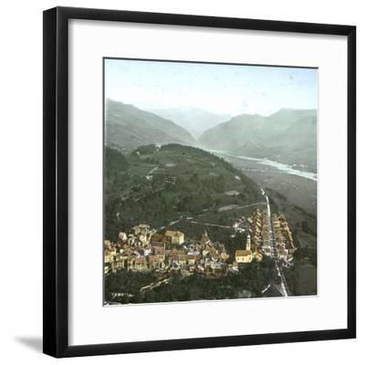 Thusis (Switzerland), Overview and the Valley of the Rhine, Circa 1865-Leon, Levy et Fils-Framed Photographic Print