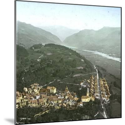Thusis (Switzerland), Overview and the Valley of the Rhine, Circa 1865-Leon, Levy et Fils-Mounted Photographic Print