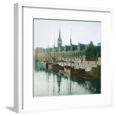 Copenhagen, Denmark, the Stock Exchange-Leon, Levy et Fils-Framed Photographic Print