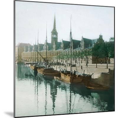 Copenhagen, Denmark, the Stock Exchange-Leon, Levy et Fils-Mounted Photographic Print