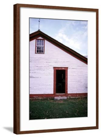 Old farmhouse in rural Indiana, USA-Anna Miller-Framed Photographic Print