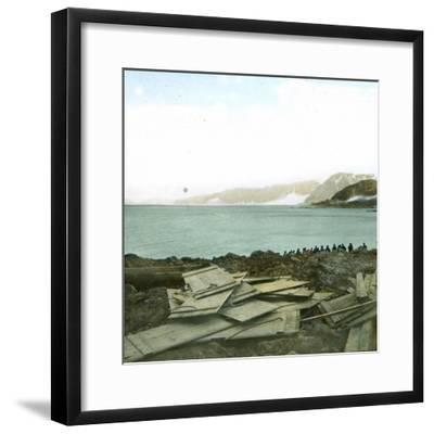 Spitsbergen, Andree Expedition to the North Pole, Departure of the Balloon, July 11, 1897, 2H30-Leon, Levy et Fils-Framed Photographic Print