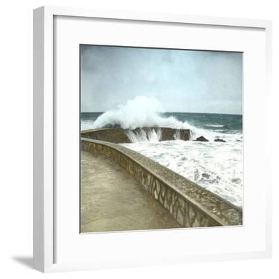 Biarritz (Atlantic-Pyrennes, France), Effects of the Sea-Leon, Levy et Fils-Framed Photographic Print