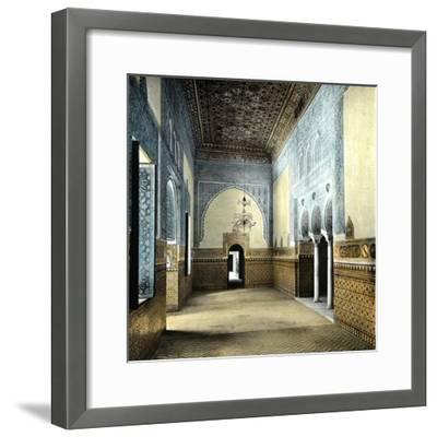 Seville (Spain), the Alcazar, the Resting Room of the Moorish Kings-Leon, Levy et Fils-Framed Photographic Print