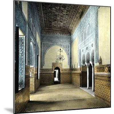 Seville (Spain), the Alcazar, the Resting Room of the Moorish Kings-Leon, Levy et Fils-Mounted Photographic Print