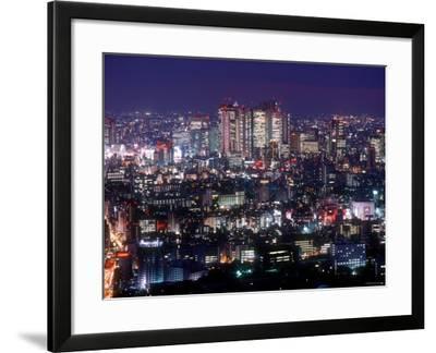 Night View of Shinjuku--Framed Photographic Print