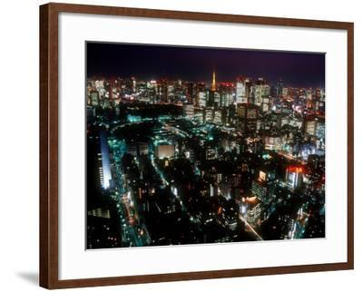 Night View of Tokyo Tower--Framed Photographic Print