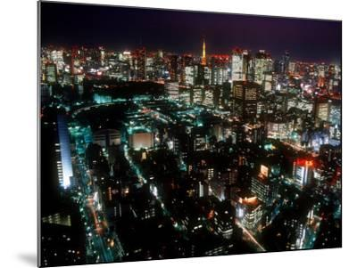 Night View of Tokyo Tower--Mounted Photographic Print