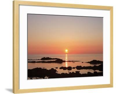 Sunset at the Sea--Framed Photographic Print