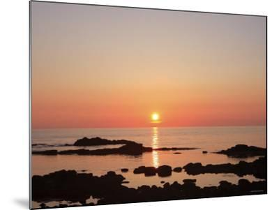 Sunset at the Sea--Mounted Photographic Print