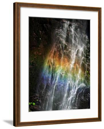 Rainbow and Water Falls--Framed Photographic Print