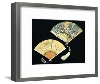 Japanese and Chinese Silk Fans, c.1850-70--Framed Photographic Print