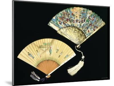 Japanese and Chinese Silk Fans, c.1850-70--Mounted Photographic Print