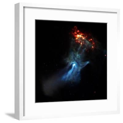 At the Center of this Chandra Image, a Pulsar, Responsible for this X-ray Nebula--Framed Photographic Print
