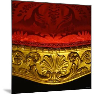 Armchair in Gilded Beech Wood and Walnut with Damask Upholstery-Robert Adam-Mounted Photographic Print