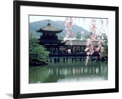 Garden Bridge of Heian-Jingu Shrine in Spring, Kyoto, Japan--Framed Photographic Print