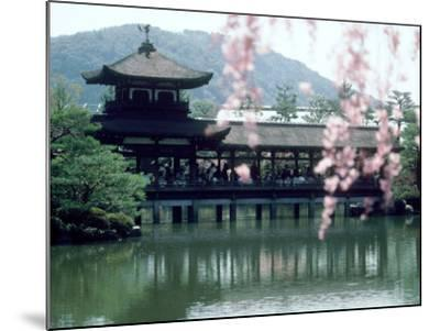 Garden Bridge of Heian-Jingu Shrine in Spring, Kyoto, Japan--Mounted Photographic Print