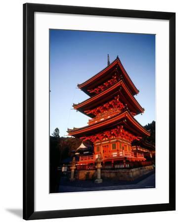 Three-Story Pagoda of Kiyomizu Temple (Kiyomizudera), Kyoto, Japan,--Framed Photographic Print