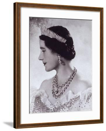 Portrait with Tiara of Her Majesty Queen Elizabeth, the Queen Mother-Cecil Beaton-Framed Photographic Print