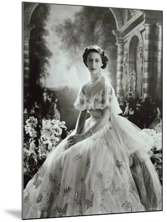 Portrait of Princess Margaret in Ballgown, Countess of Snowdon, 21 August 1930 - 9 February 2002-Cecil Beaton-Mounted Photographic Print