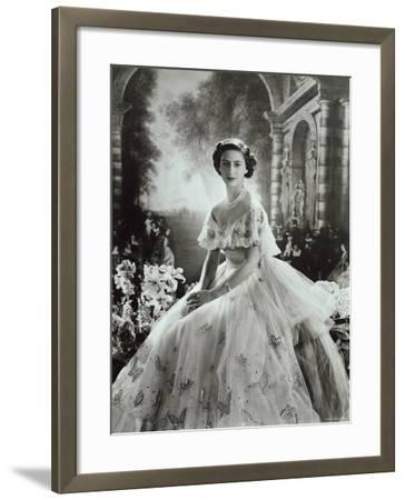 Portrait of Princess Margaret in Ballgown, Countess of Snowdon, 21 August 1930 - 9 February 2002-Cecil Beaton-Framed Photographic Print